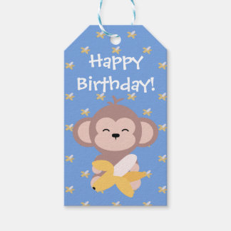 Cute Kawaii Monkey with Banana Gift Tags