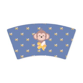Cute Kawaii Monkey with Banana Paper Cup