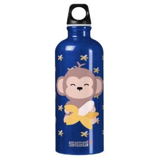 Cute Kawaii Monkey with Banana Water Bottle