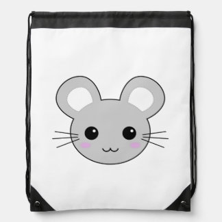 Cute Kawaii Mouse Cartoon Drawstring Bag