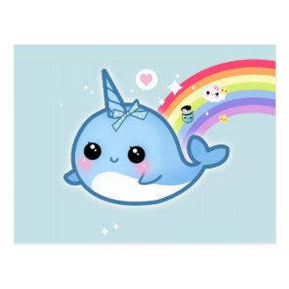 Rainbow narwhal undo cute kawaii narwhal with
