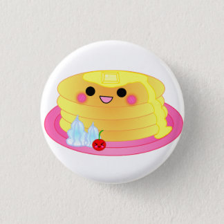 cute kawaii pancake 1 inch round button