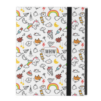 Cute Kawaii Pattern custom monogram device cases