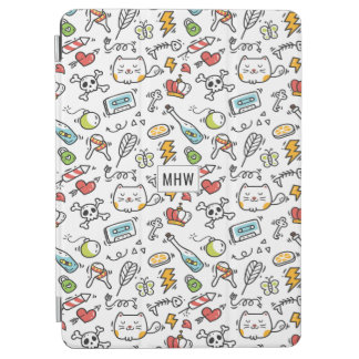 Cute Kawaii Pattern custom monogram device covers iPad Air Cover