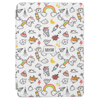 Cute Kawaii Pattern custom monogram device covers iPad Air Cover