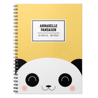 Cute Kawaii Peekaboo Panda Face Personalized Notebook