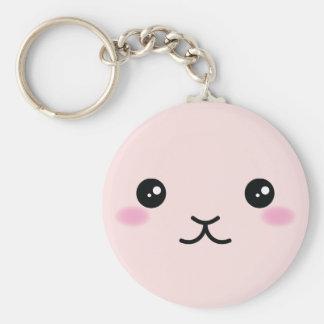 Cute, Kawaii, Pink Bunny Design Keychain