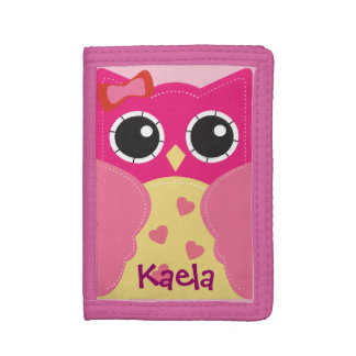 Cute Kawaii Pink Owl Wallet for Girls