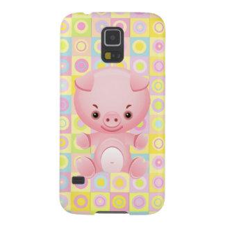 Cute Kawaii Pink Pig Galaxy S5 Cases