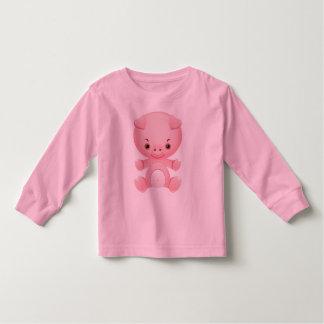 Cute Kawaii Pink Pig  pattern kids t-shirt