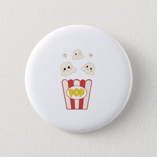 Cute Kawaii Popcorn 2 Inch Round Button