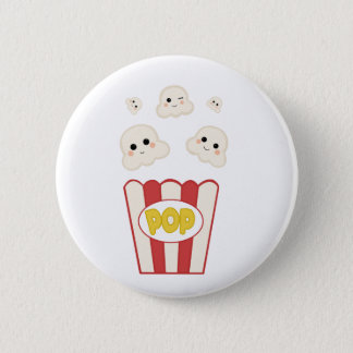 Cute Kawaii Popcorn 2 Inch Round Button