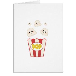 Cute Kawaii Popcorn Card