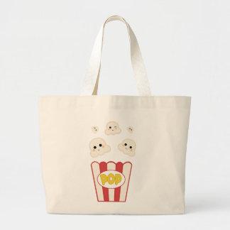 Cute Kawaii Popcorn Large Tote Bag