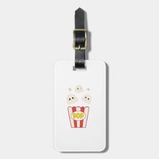 Cute Kawaii Popcorn Luggage Tag
