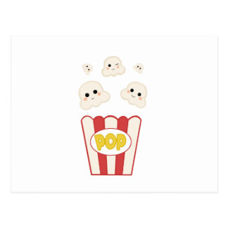 Cute Kawaii Popcorn Postcard