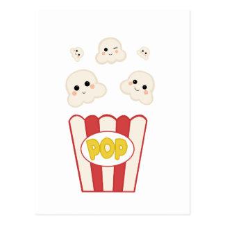Cute Kawaii Popcorn Postcard
