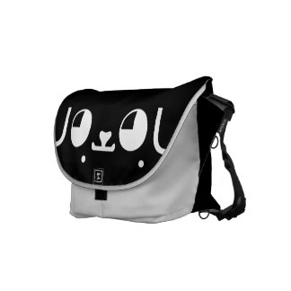 Cute Kawaii Puppy Dog Japanese Kaomoji Emoticon Messenger Bag