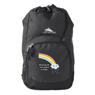 Cute Kawaii Rainbow Famous Inspirational Quote Backpack
