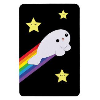 Cute Kawaii Rainbow Rocket Baby Seal Magnet