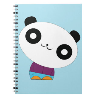 Cute kawaii real chill panda notebook