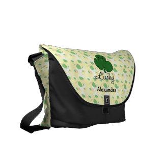 Cute Kawaii Shamrock Courier Bag