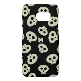Cute Kawaii Skulls Samsung Galaxy S7, Barely There Samsung Galaxy S7 Case
