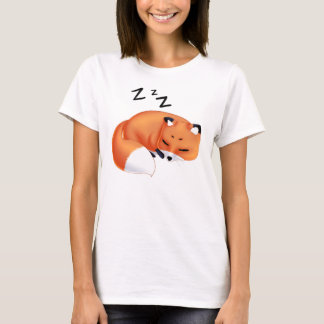 Cute Kawaii Sleeping cartoon fox T-Shirt