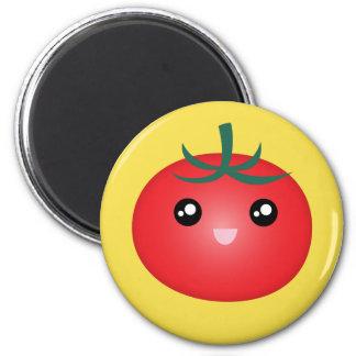 Cute Kawaii Smiling Happy Tomato Manga Cartoon Magnet
