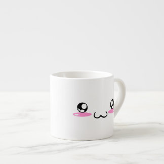 Cute Kawaii Smiling Japanese Emoticon Face Espresso Cup