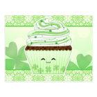 Cute kawaii St Patricks day cupcake Postcard