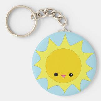 Cute kawaii sunshine keychain
