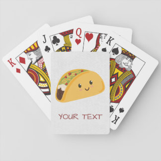 Cute Kawaii Taco Smiling Playing Cards