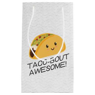 Cute Kawaii Taco Taco-bout Awesome Small Gift Bag