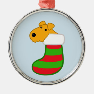 Cute Kawaii Terrier Christmas Stocking Ornament