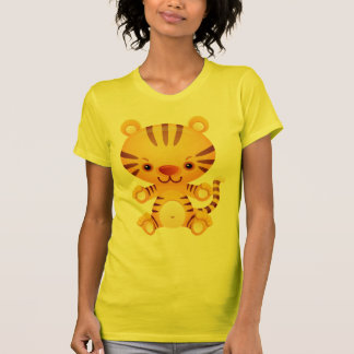 Cute Kawaii  Tiger  Ladies  t-shirt