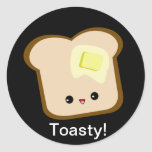 Cute kawaii toasty toast and butter sticker