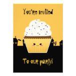 Cute Kawaii vampire cupcake halloween party Invites