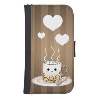 Cute kawaii warm cocoa drink phone wallets
