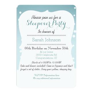 Cute Kawaii winter cupcake sleepover party 5x7 Paper Invitation Card