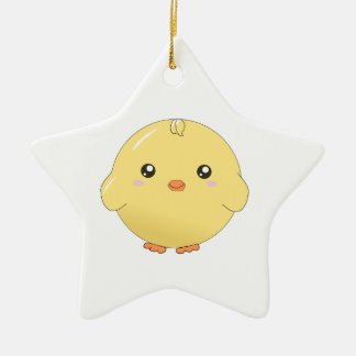 Cute kawaii yellow chick ornament (star/heart/etc)
