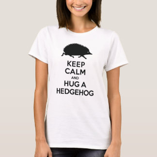 Cute Keep Calm and Hug a Hedgehog T-Shirt