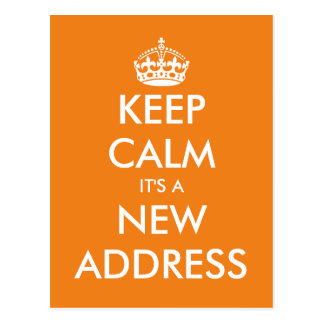 Cute keep calm we've moved postcard for relocation