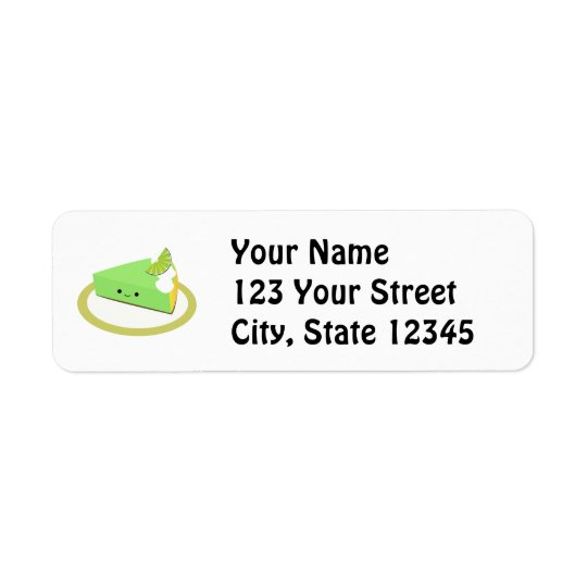 Cute Key Lime Pie Return Address Label