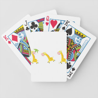 Cute kids 3  giraffes bicycle playing cards