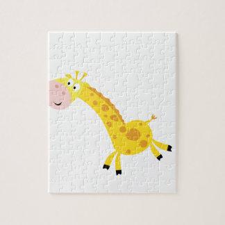Cute kids 3  giraffes jigsaw puzzle