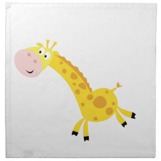 Cute kids 3  giraffes napkin