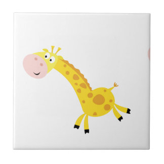 Cute kids 3  giraffes tile