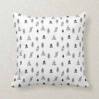Cute kids adventure fashion throw pillow