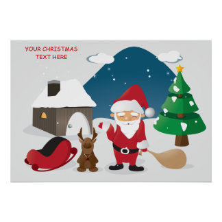 Cute kids appealing Christmas Poster